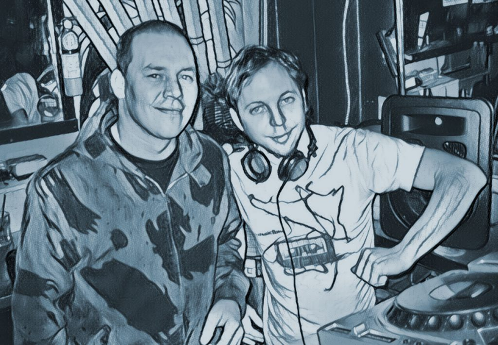DJ Duane on the Left & Ryan Bauer on the right 2010